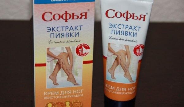 Крема Софья с экстрактом пиявки от варикоза