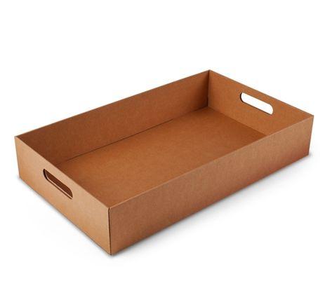 Преимущества картонных лотков